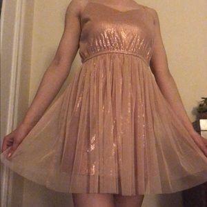 Forever 21 Rose Gold Sequin Dress